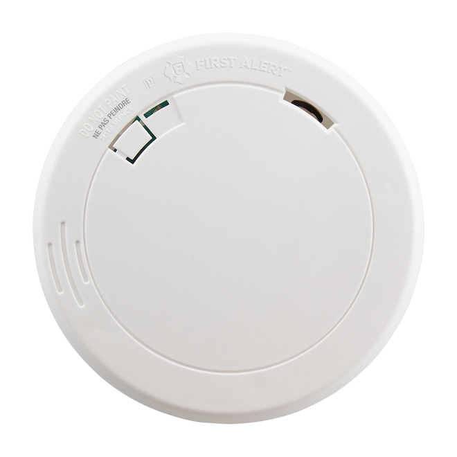 Photoelectric Smoke Detector - 9 V Battery - Low Profile