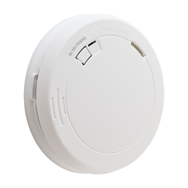 First Alert Slim battery-Operated Smoke Alarm - Photoelectric - 85 dB - White