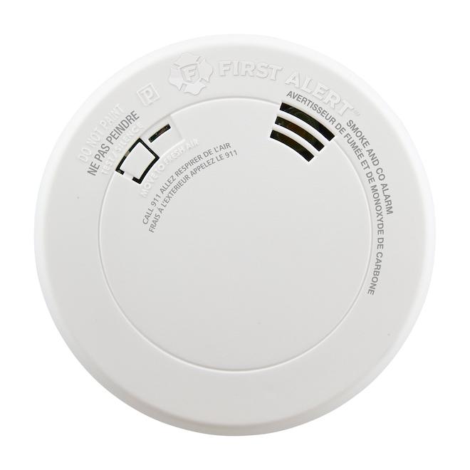Avertisseur de fumée/monoxyde de carbone, pile, alerte vocale
