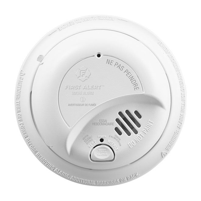 Ionization Smoke Detector - Hardwired 120 V - Battery Backup