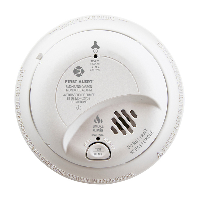 BRK Smoke and Carbon Monoxide Detector with Battery Backup - Plastic - White