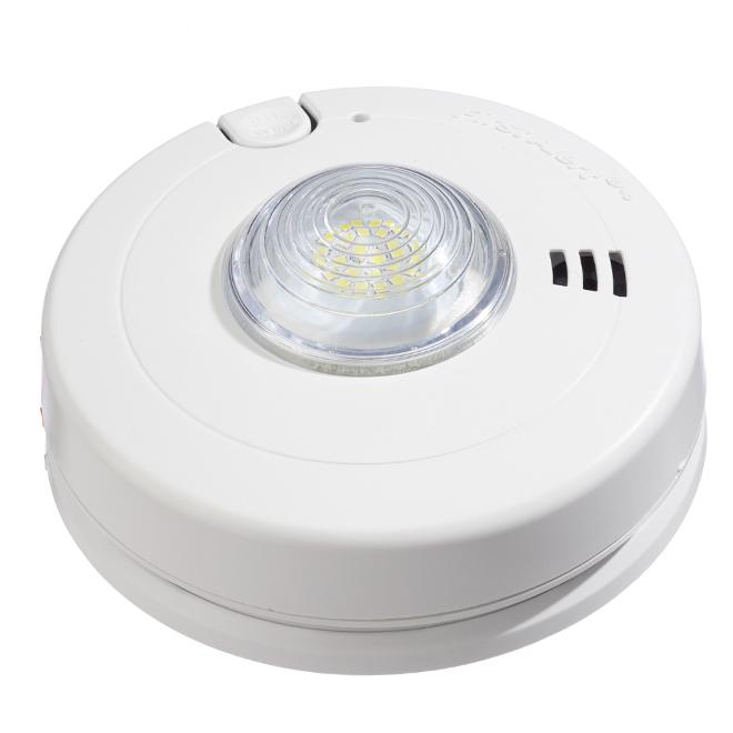 Smoke Alarm - LED Strobe - Slim - Hardwired