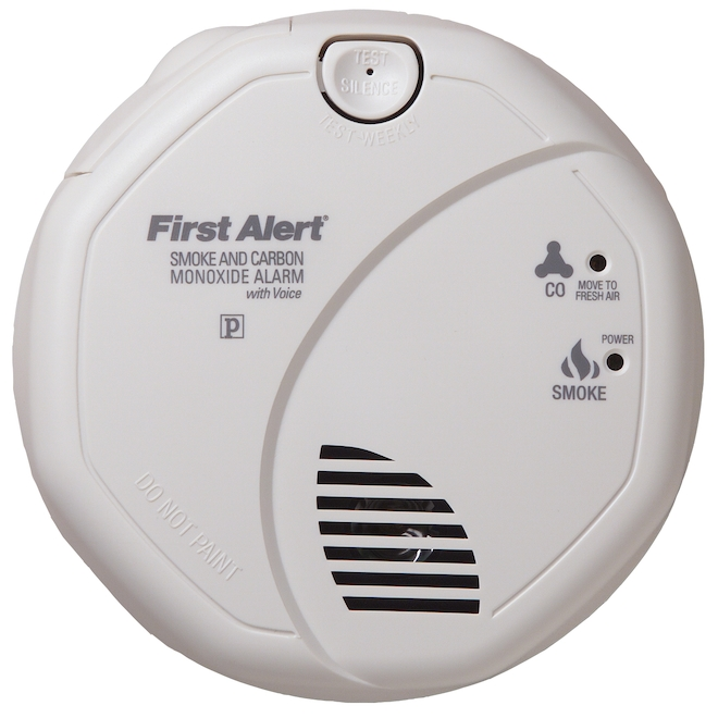 First Alert Smoke/Carbon Monoxide Detector - Wired 120V AC/DC