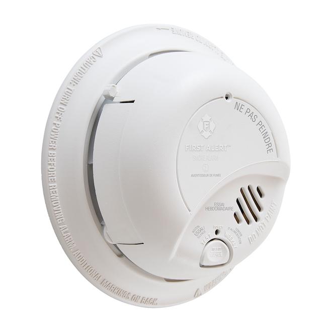 Détecteur de fumée, double chambre ionisation, câblé 120 V