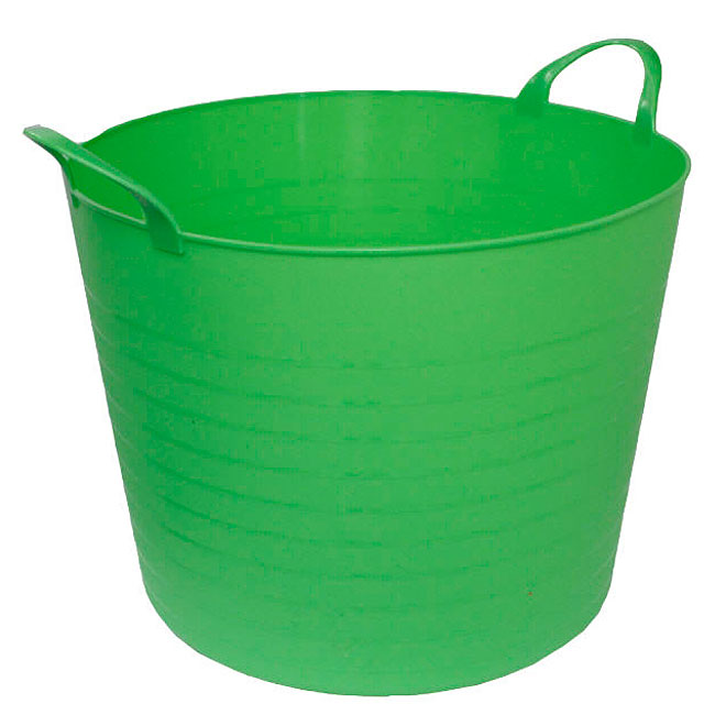 GSC Technology Storage Bucket - Plastic - 42-Litre - Green