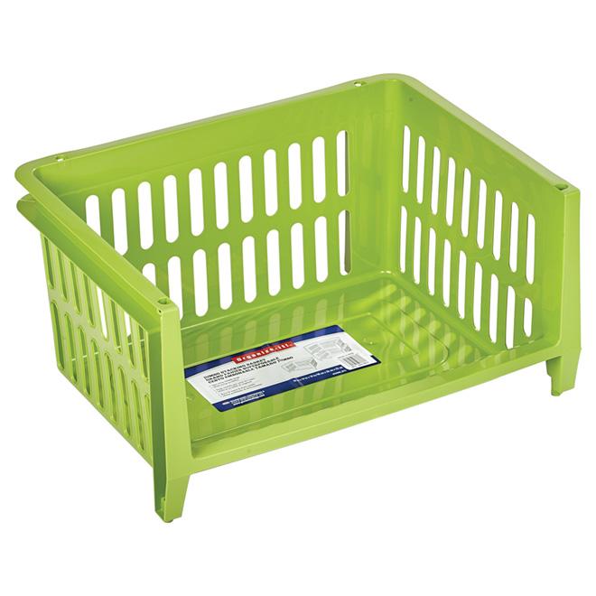 Panier de rangement empilable, vert