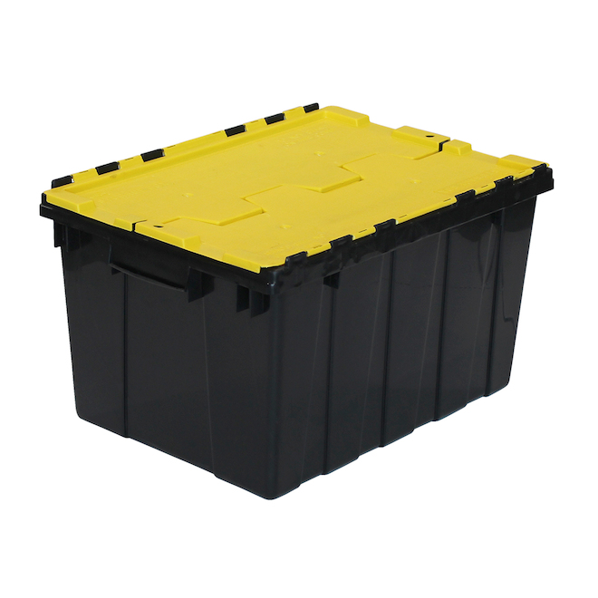 GSC Technology Flip Top Storage Tote - Plastic - 45-Litre