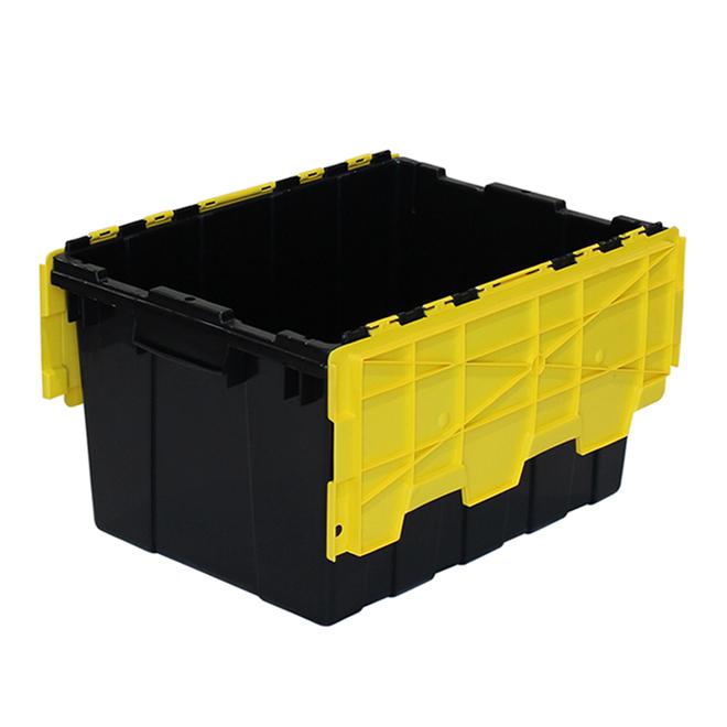 Bac de rangement à couvercle rabattable GSC Technology, plastique, 45 litres