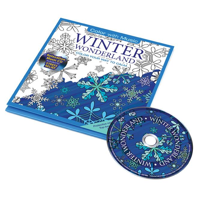 Coloriage pour adultes, merveilles d'hiver