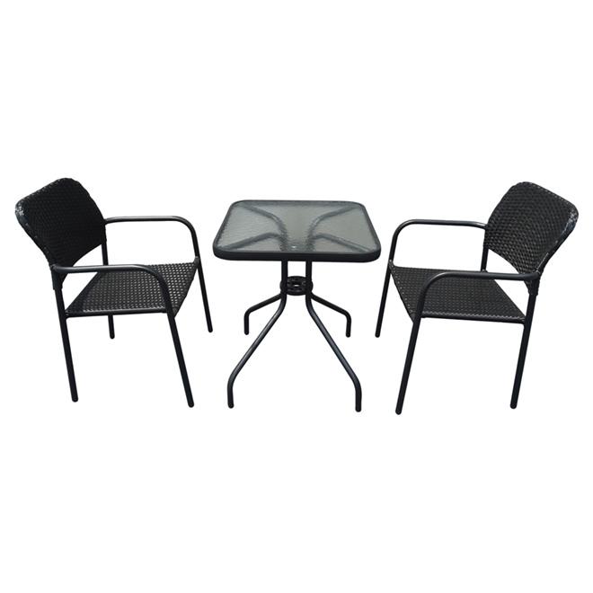 Bistro Set - Black - 3 Pieces