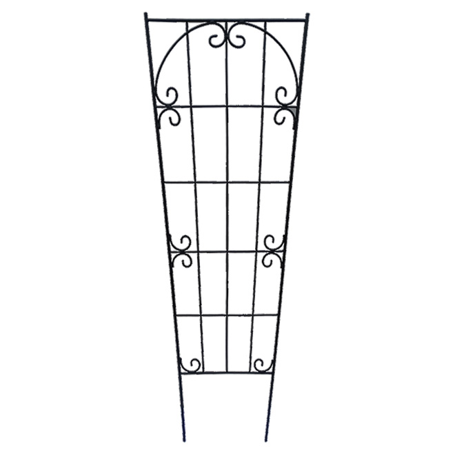 Contemporary Trellis Fence - 19-in x 59-in - Metal - Black