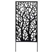 "Decorative Lattice - 30"" x 72"" - Steel - Black"