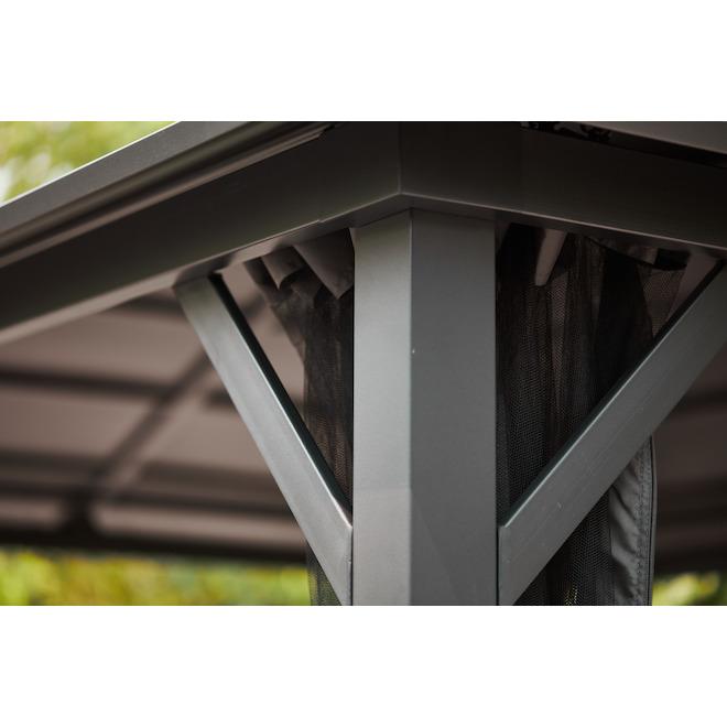 Abri de jardin à toit ventilé Style Selections, 10 pi x 12 pi, acier galvanisé, gris
