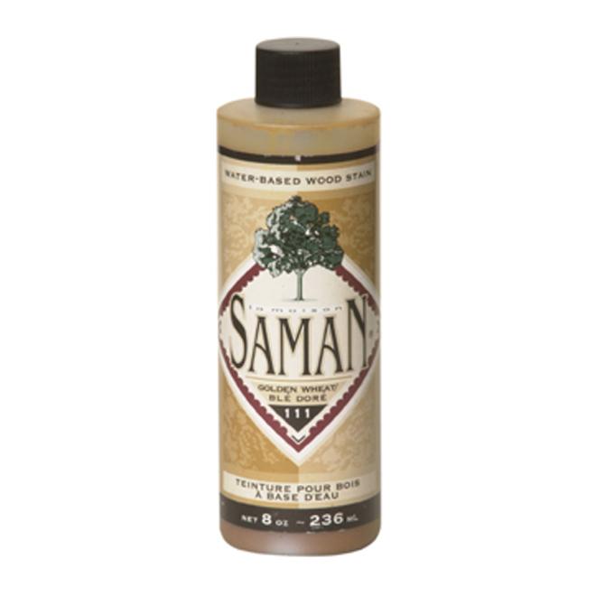 Teinture en une couche pour bois d'intérieur Saman, à base d'eau, blé doré, aubergine, 236 ml
