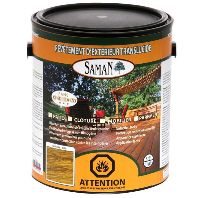 Revêtement extérieur à huile abrasin, naturel, 3.78 l.