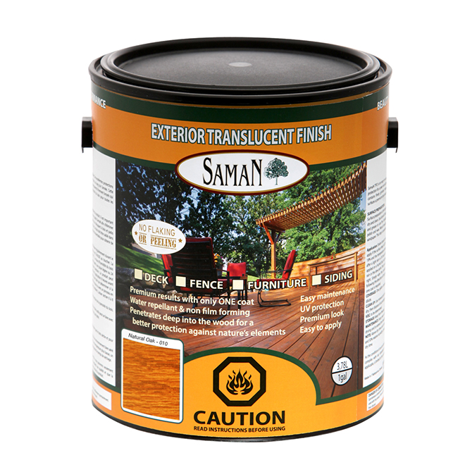 Exterior Translucent Wood Stain - Neutral Base - 3.78L