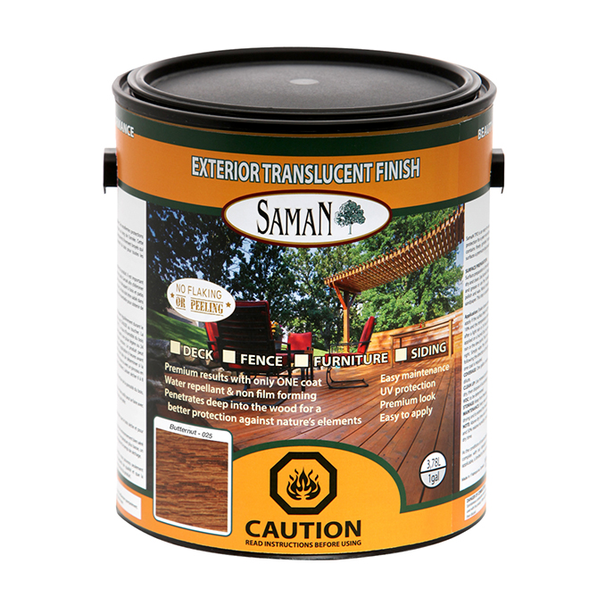 Exterior Translucent Wood Stain - Butternut - 3.78 L