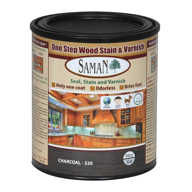 Stain and varnish hybrid - 946 mL - Charcoal