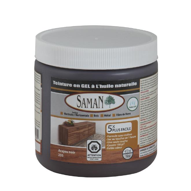 Teinture en gel à l'huile naturelle, 472 mL, acajou noir