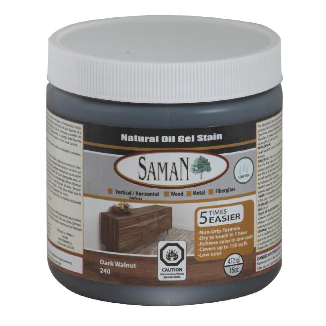 Natural Oil Gel Stain - 472 mL - Dark Walnut