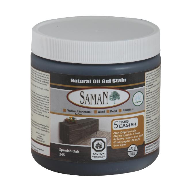 Natural Oil Gel Stain - 472 mL - Spanish Oak