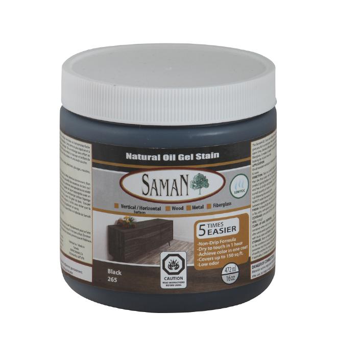 Natural Oil Gel Stain - 472 mL - Black