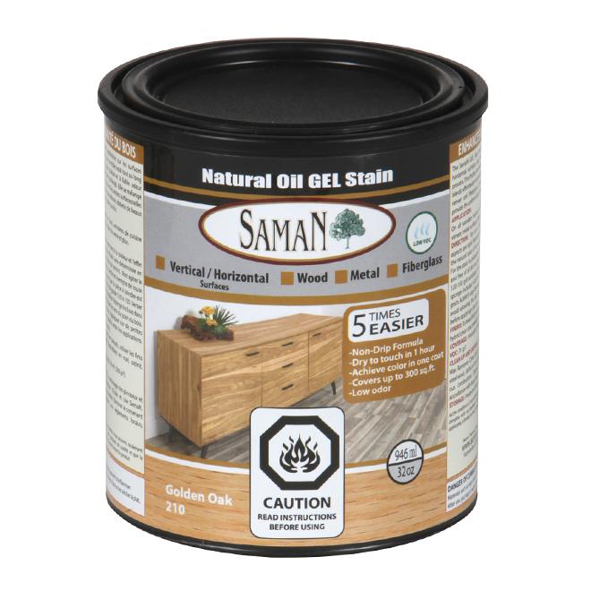 Natural Oil Gel Stain - 946 mL - Golden Oak