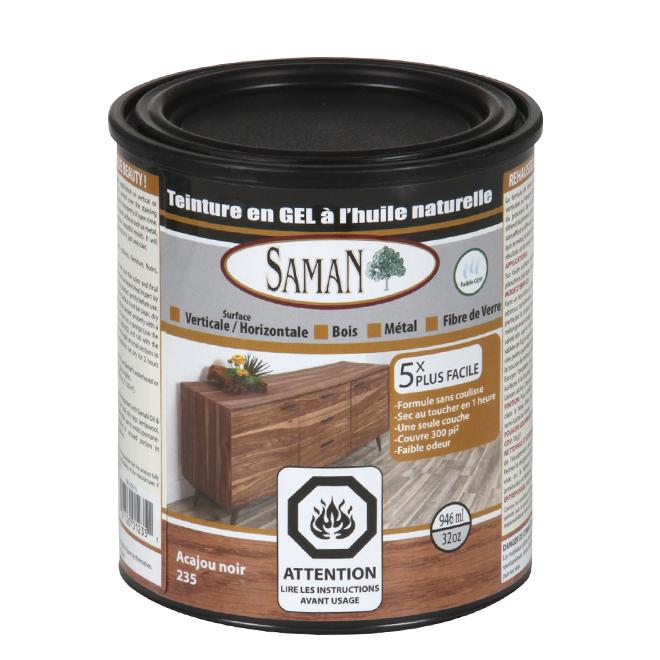 Teinture en gel à l'huile naturelle, 946 mL, acajou noir