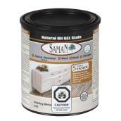 Saman Natural Oil Gel Stain - odourless - White - 946 ml