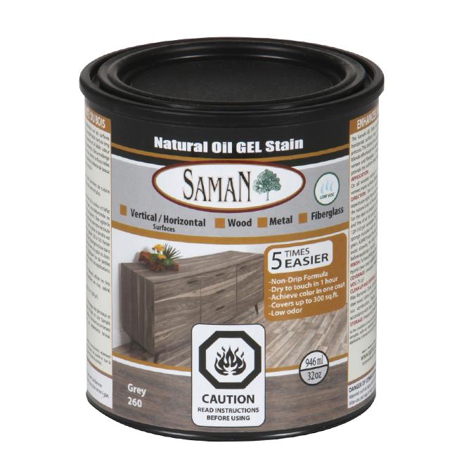 Natural Oil Gel Stain - 946 mL - Grey