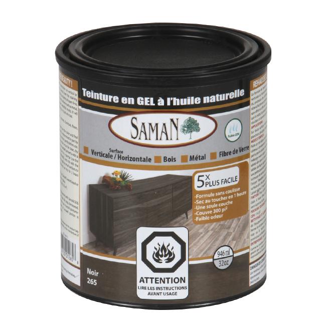 Teinture en gel à l'huile naturelle, 946 mL, noir