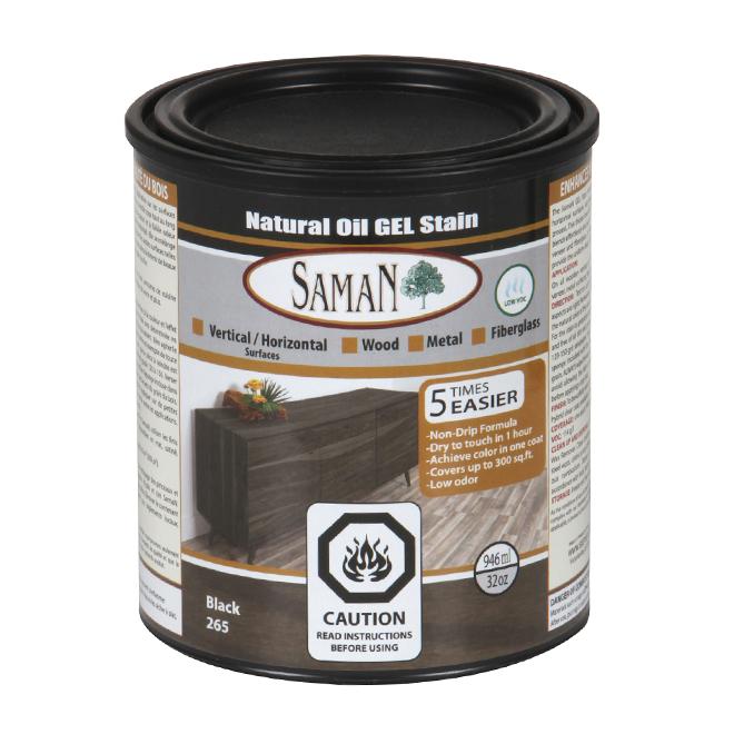 Natural Oil Gel Stain - 946 mL - Black