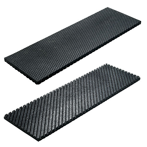 "Recycled Rubber Stair Tread - 24""x10""x1/2"""