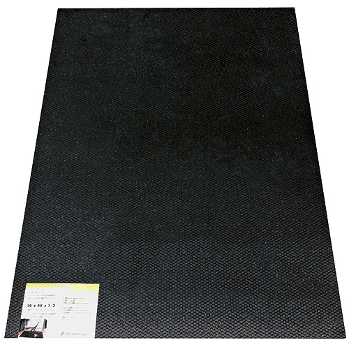 Secure Step Recycled Rubber Door Mat - Black - Exterior - 24-in L x 36-in W x 1/2-in T