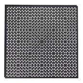 "Floor Tile - Recycled PVC - Black - 18"" x 18"""