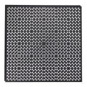 """Carreau de sol, PVC recyclé, noir, 18"""" x 18"""""""