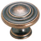 Bouton en métal fini cuivre