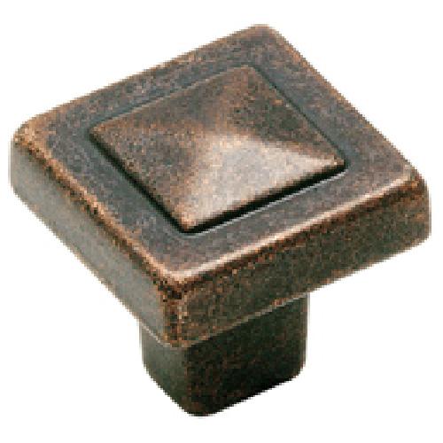 Bouton en métal fini laiton