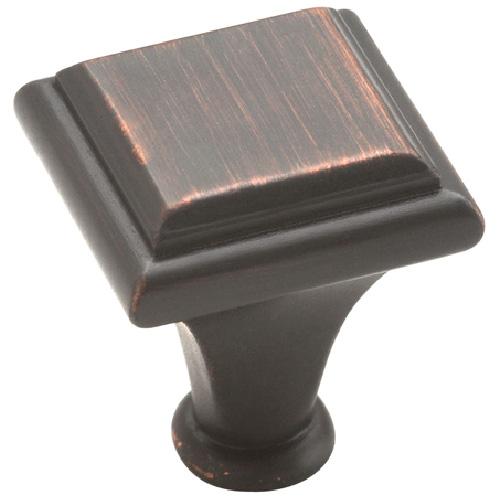 Bouton en métal fini bronze huilé