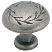 Bouton en métal fini nickel