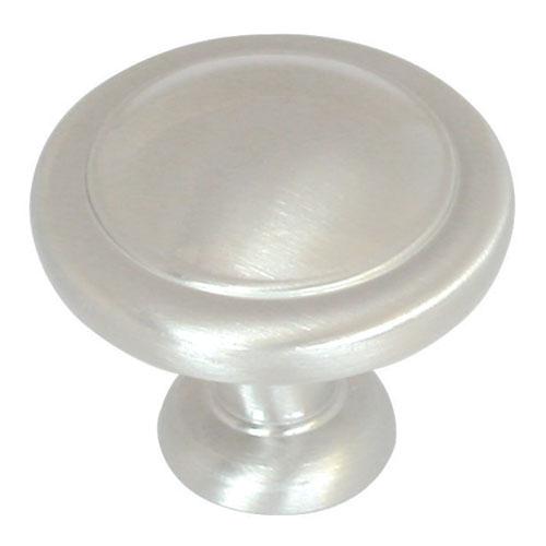 Bouton d'armoire en zinc - Nickel satiné