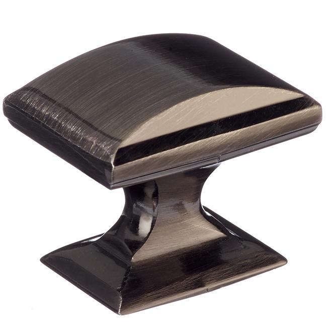 """Bouton d'armoire transitionnel, bronze à canon, 1 1/4"""""""
