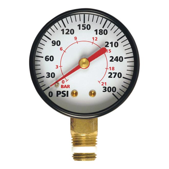 4BSP Diametre Kuinayouyi Manometre a air de comparateur de cadran rond 0-180 psi 13mm 1 Noir