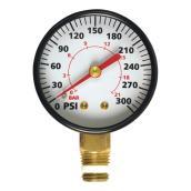 Manomètre pour compresseur d'air 1/4 po NPT, 0 à 300 lb/po.ca.