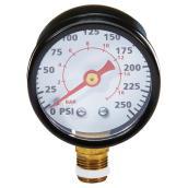 Manomètre pour compresseur d'air 1/8 po NPT, 0 à 200 lb/po.ca.