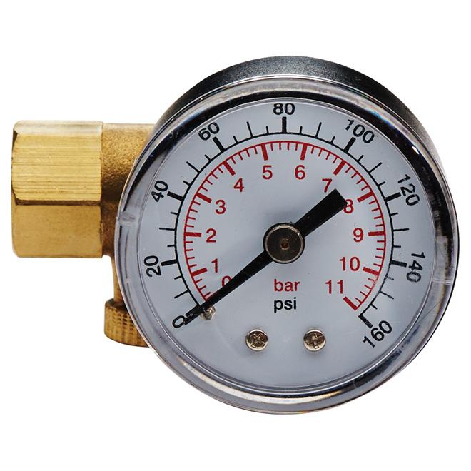 Soupape de réglage pour compresseur d'air avec manomètre Campbell Hausfeld, 1/4 po
