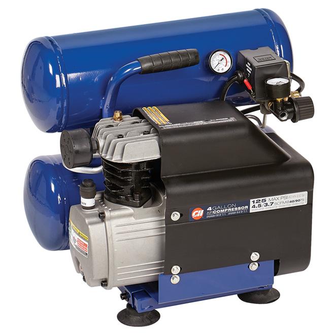 Compresseur à air 4 gal, 2 réservoirs superposés, 125 lb/po²