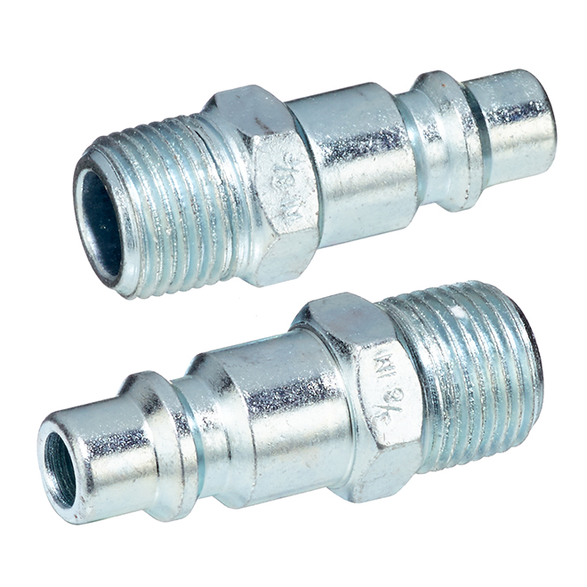 "Industrial Coupler - 3/8"" Male NPT - 2 Pack"