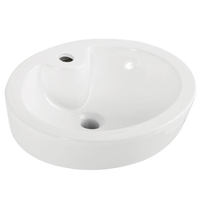 vasque ovale en porcelaine 18 3 8 x15 x6 5 8 rona. Black Bedroom Furniture Sets. Home Design Ideas