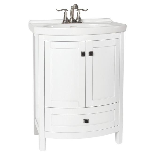 Foremost Tallia Vanity with 2 Doors and 1 Drawer - White